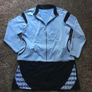 Izod | XL Outfit Jacket & Skort Blue & Black